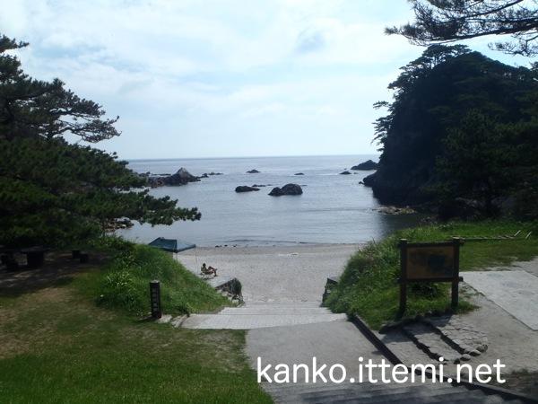 石白川海岸 海水浴場2
