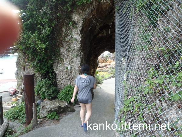 松ヶ下雅湯のトンネル