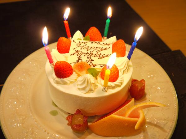サプライズの誕生日ケーキ