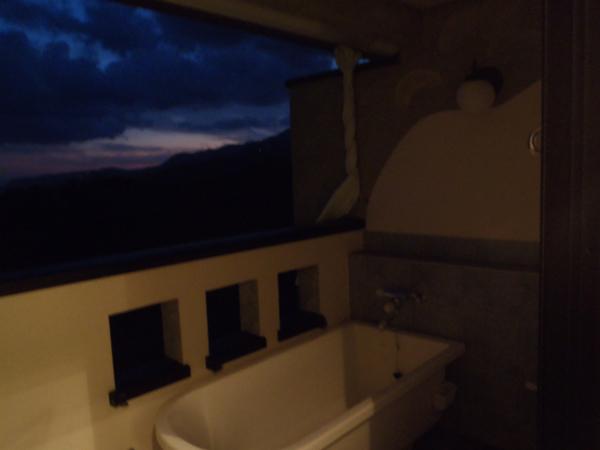 月宿 楽 -つきやど らっく- のSORAの部屋からの夕焼け