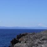 大島からの富士山