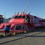 ピンクのジェット船