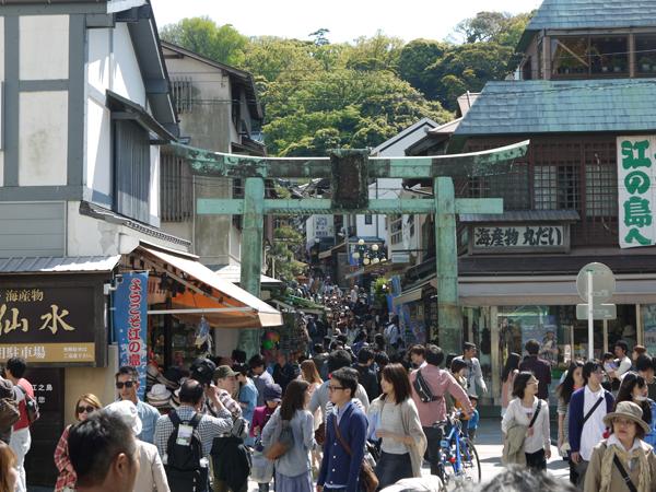 江ノ島神社への参道