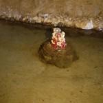 岩屋の中の龍の像