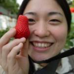 イチゴを顔と比較