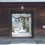 一宮浅間神社 入り口の門(境内から)