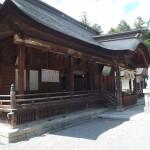 一宮浅間神社 本堂左から