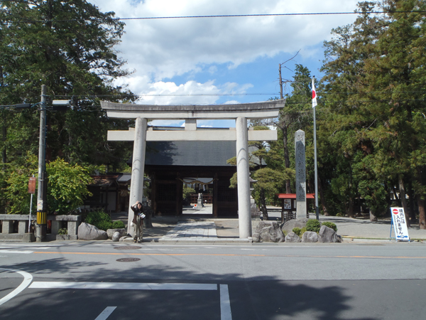 山梨 一宮浅間神社の入り口