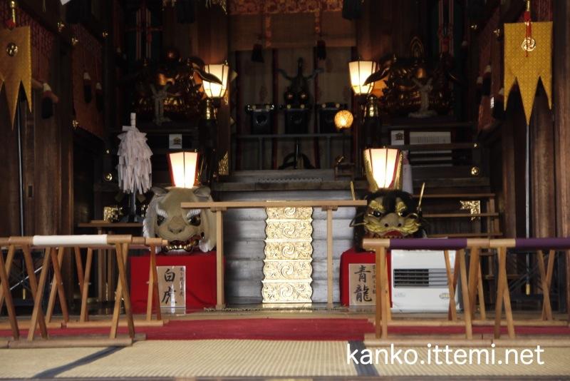 波除神社本殿内部