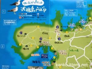 式根島マップ(左上)