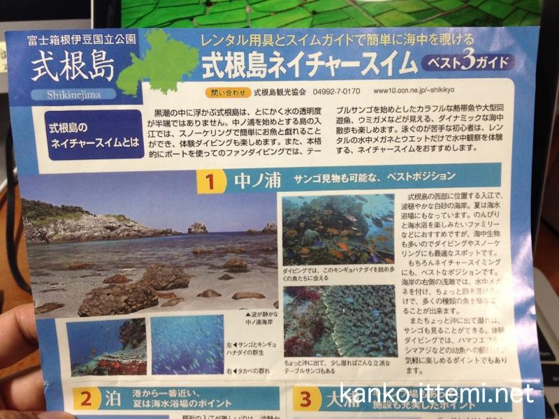 式根島ネイチャースイム ベスト3ガイド3