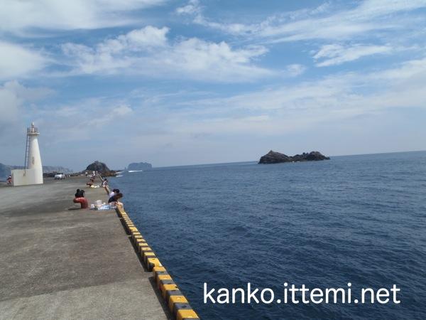 足付漁港からの眺め