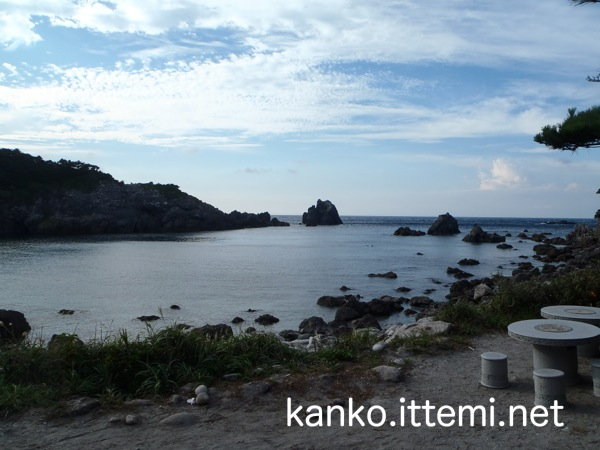 中ノ浦海水浴場(浜から)