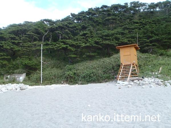 中ノ浦海水浴場の砂浜3