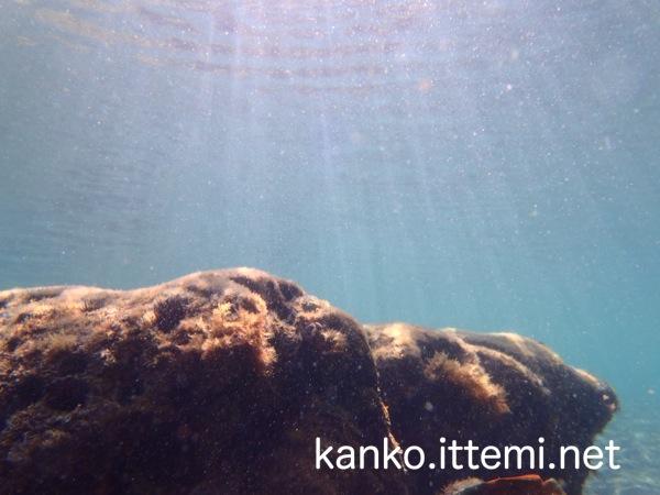 式根島 海中の太陽光