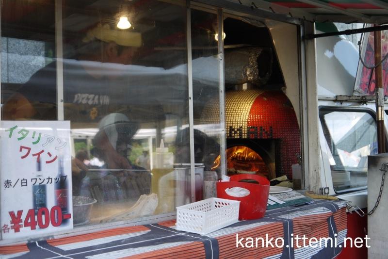 青山パン祭り(ピザ屋の石窯)