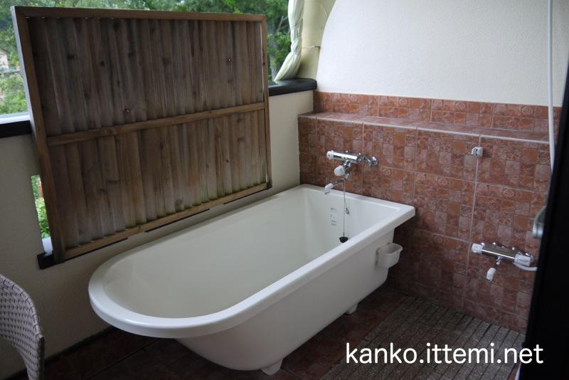 露天風呂付客室「Bari-バリ-」の部屋のお風呂