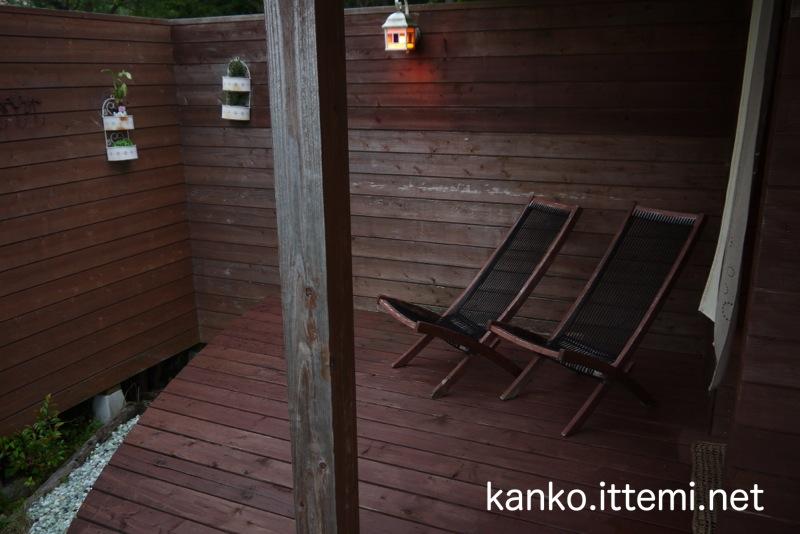 展望露天風呂の椅子
