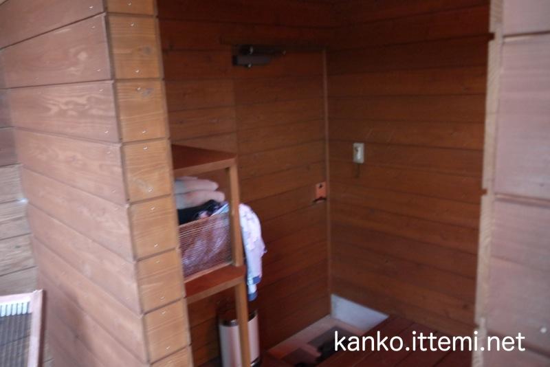 展望露天風呂の脱衣所