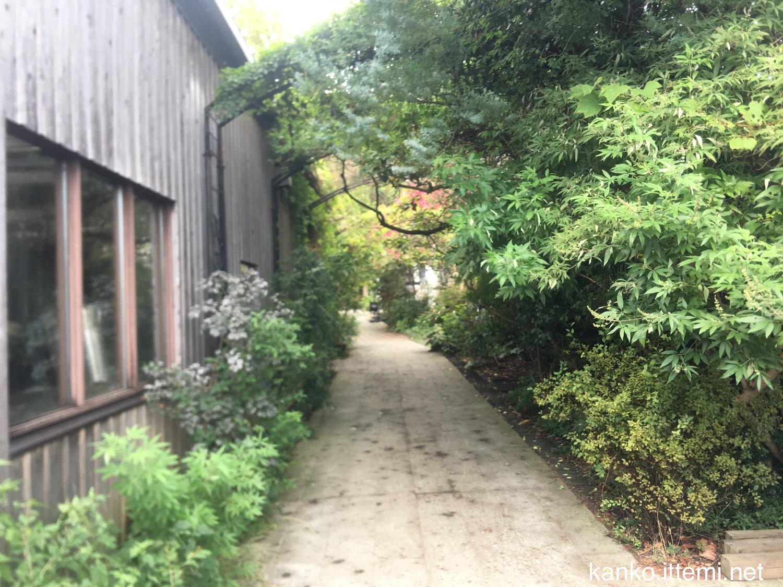 熊澤酒造の入り口内