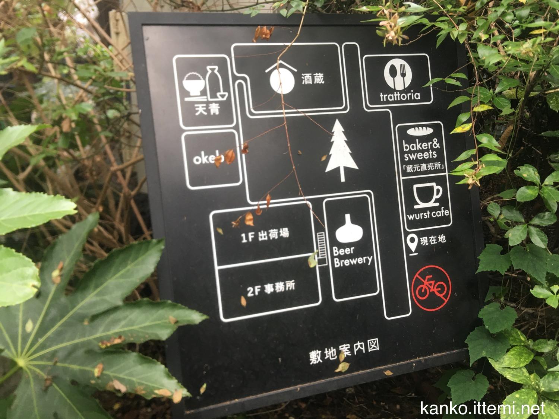 熊澤酒造の敷地案内図